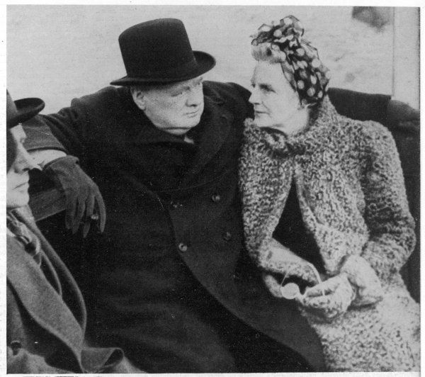 WINSTON CHURCHILL with his wife, clementine