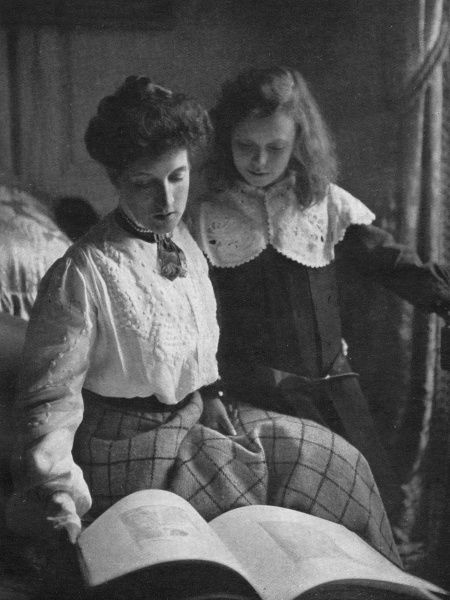 MARGOT ASQUITH Emma Alice Margaret, nee Tennant, Scottish society figure and second wife of H H Asquith, married 1894. Pictured with her daughter, Elizabeth