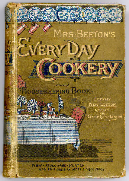 Front Cover of Mrs Beeton's 'Every Day Cookery and Housekeeping&#39