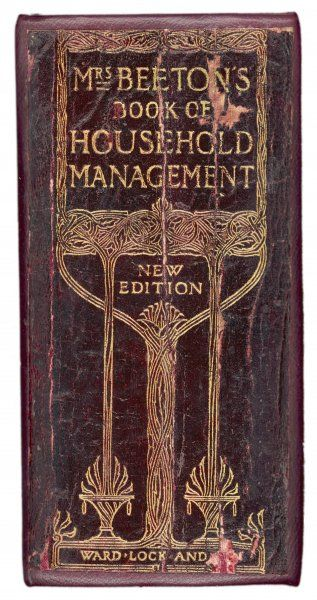 The spine of the 1907 edition of Mrs Beeton's Book of Household Management