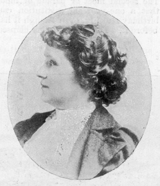 Mrs Mary Bridges Adams, a member of the new London School Board. She was committed to educational opportunity for workers' children
