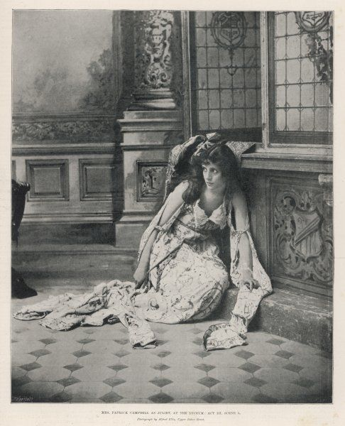 MRS PATRICK CAMPBELL English actress as Juliet at the Lyceum Theatre, London (Act 3, Scene 5)