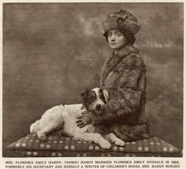 Florence Emily Hardy, nee Dugdale, second wife of the novelist Thomas Hardy, pictured in 1914. Florence was Hardy's secretary and herself a write of children's books. She nursed Hardy through his last illness; he died in January 1928