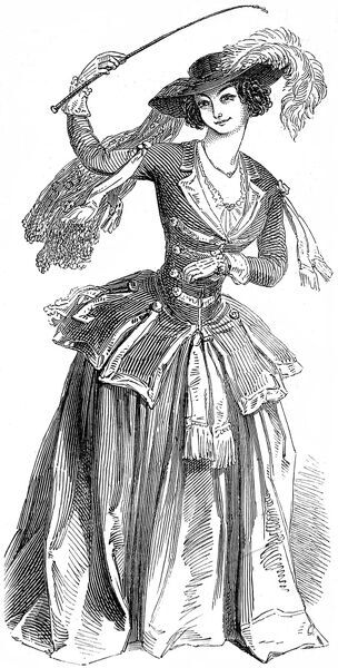 Mrs Louisa Cranstoun Nisbett (c.1812-1858), Lady Boothby, in her celebrated role as Constance in 'The Love Chase' playing at the Haymarket Theatre in 1847