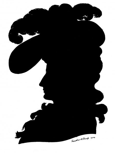 Sarah Siddons, English actress (1755 - 1831), pictured in silhouette, after the portrait of her by Gainsborough. Date: 1904