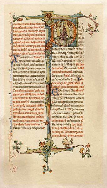 page from a 14th century English breviary