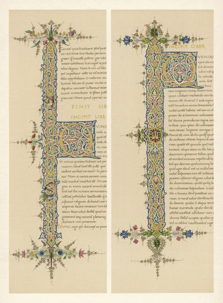 Two initial Qs from an Italian manuscript of the De Civitate Dei of Saint Augustine
