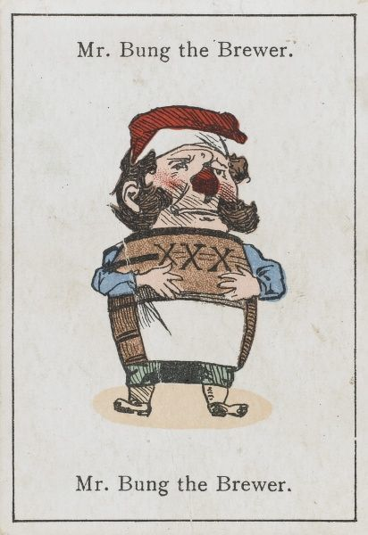 "Mr Bung the Brewer, from ""Happy Families"" devised in Britain by Mr Jacques in 1861"