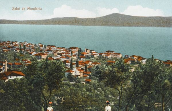 Mudanya - Turkey. Port of the Sea of Marmara is Izmit Bay. Located close To Bursa it attacts tourists because of its beautiful houses with Ottoman gardens and great seafood. Produces olive oil and has been connected since 1911 with Bursa by railway and road