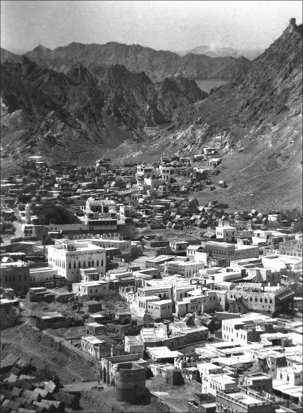 A view of the city of Muscat, the Capital of Oman. Photograph by Ralph Ponsonby Watts