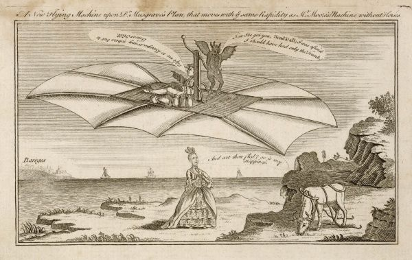 A fantasy based on Dr Musgrave's aerial project (see our print 10028101). Maybe it's a political satire ?
