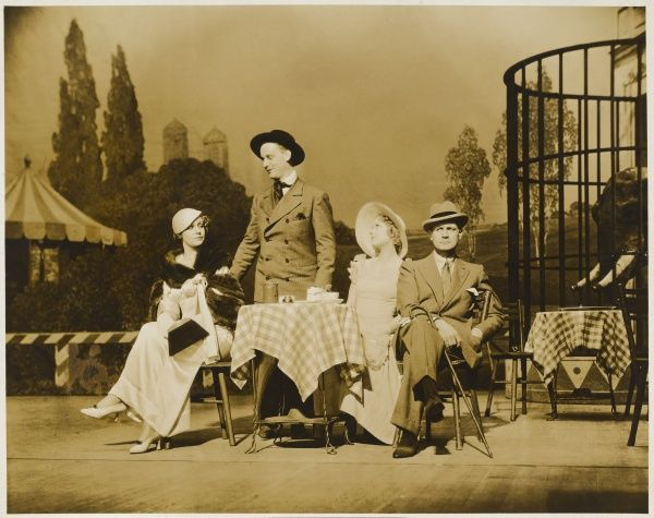 "A scene from Jerome Kern's musical play ""Music in the Air"", staged at His Majesty's Theatre in 1933, starring Mary Ellis with costumes designed by Victor Stiebel"