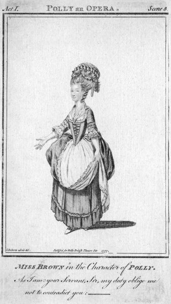 'POLLY' by John Gay - Miss Brown in the character of Polly Date: 1777
