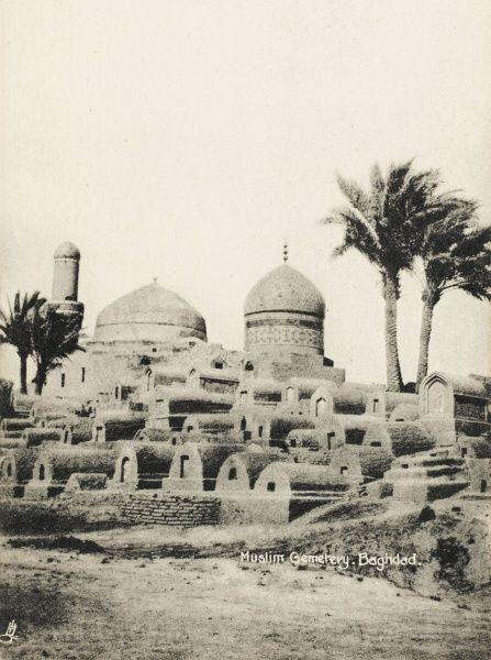 The Muslim Cemetery in Baghdad, during the time of British occupation following the First World War