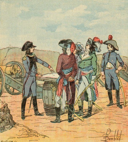 He obtains the command of the artillery at Toulon, and explains his plans to his superiors