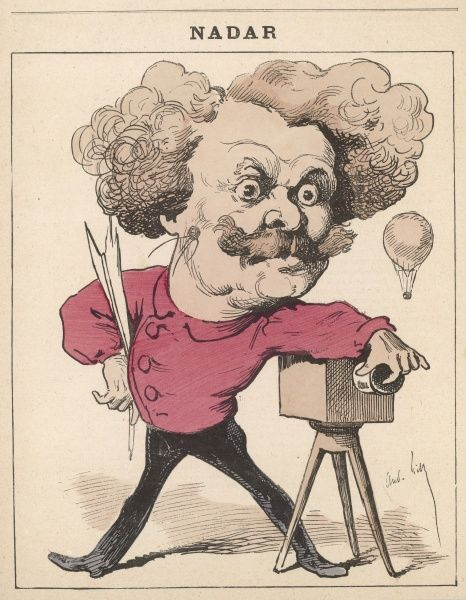 'NADAR', proper name Gaspard-Felix Tournachon French writer, caricaturist, photographer and balloonist
