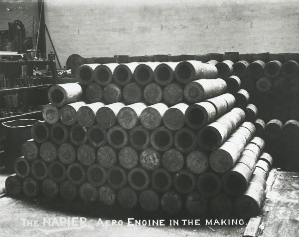The Napier aero engine in the making Lion cylinder forgings Date