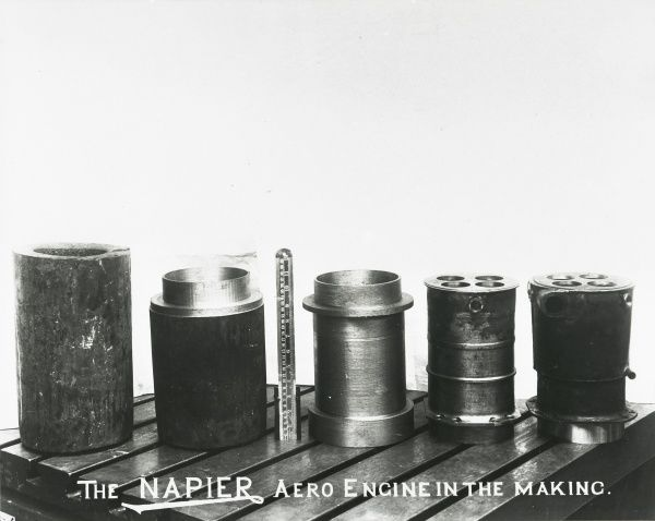 The Napier aero engine in the making five stages of Lion cylinder production Date