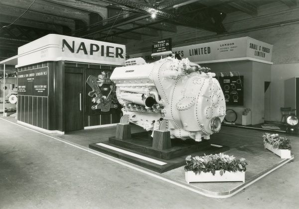Napier Deltic 18 2500 bhp diesel engine on show Date