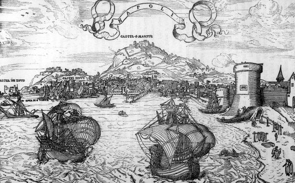 Napoli (Naples) from the sea Date: 16th century