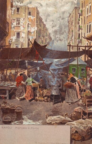 Naples, Italy - The Market at the Port Date: circa 1903