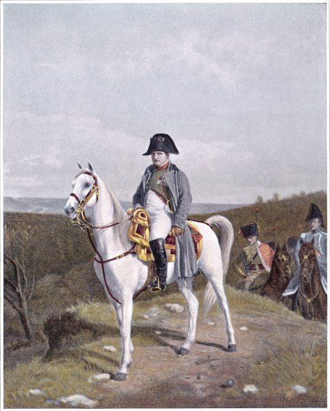 NAPOLEON on horseback, 1814