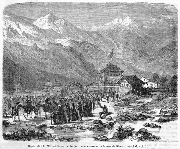 Napoleon and his wife, visiting the Alps, set out on an excursion to the Mer de Glace