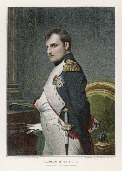 NAPOLEON, emperor of France, in his study, circa 1807