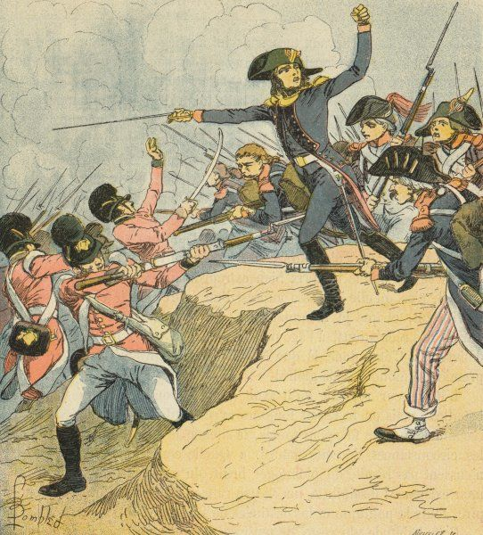 Napoleon is wounded during the siege of Toulon