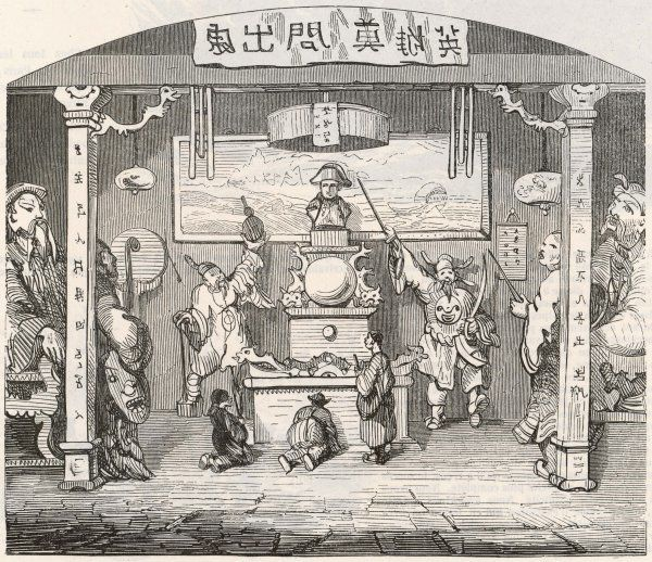 Napoleon is worshipped in a Chinese temple