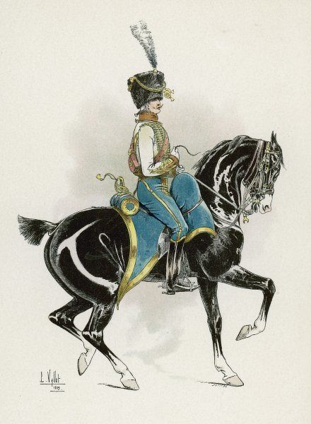 An officer of the French 5th Hussars, during the Napoleonic period