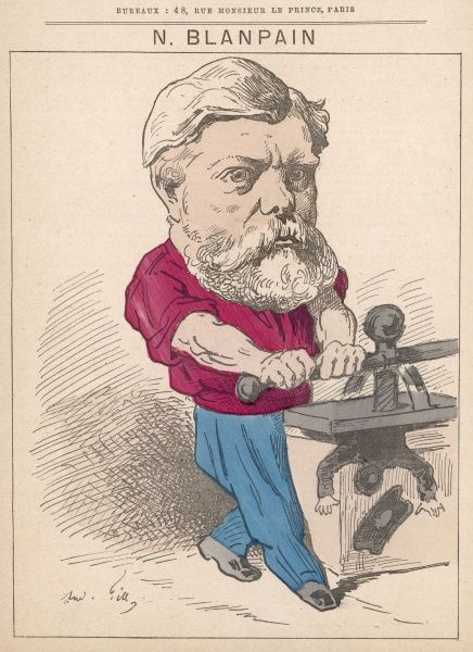 Narcisse Blanpain (1839 -?) Typographer, chansonnier and Parisian pamphleteer