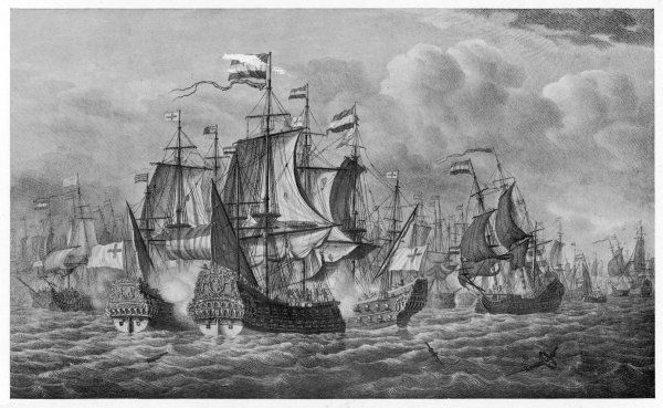 NAVAL ACTION OFF DOVER Admiral Blake defeats Tromp in the first action of the war