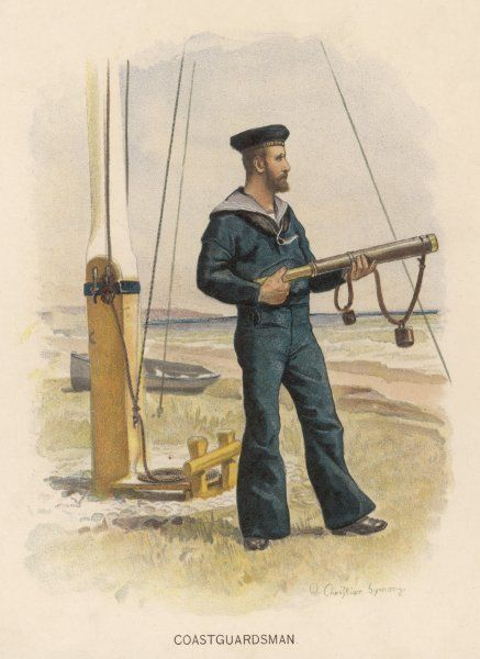 Naval coastguardsman, whose duty is to make sure that no dastardly foreigners invade our sceptred isle