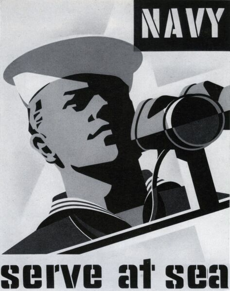 Naval recruitment poster Date: 1955