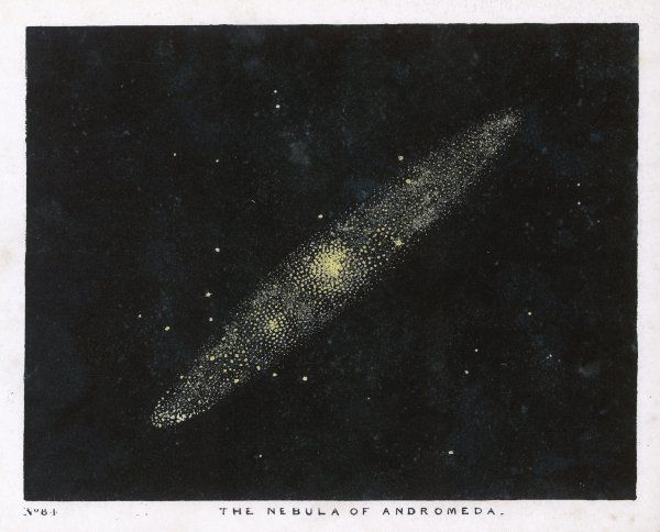 The nebula of the constellation, Andromeda