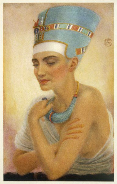 queen NEFERTITI wife of Pharaoh AKHENATEN (Amenhotep IV) daughter of the vizier Ay and mother of six