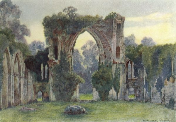 Netley Abbey, Hampshire: looking west Date: 1908