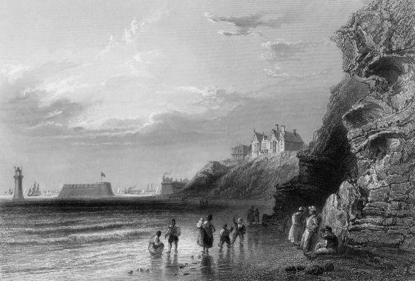 The coast at New Brighton, Merseyside. Date: circa 1835