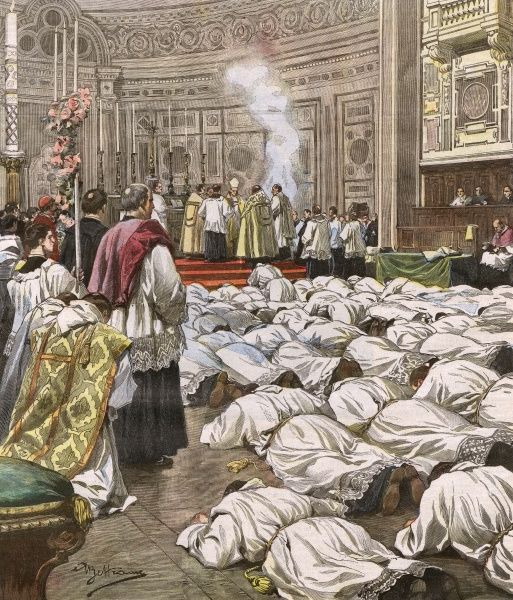 New priests are processed at the church of San Giovanni Laterano, Rome Date: 1907