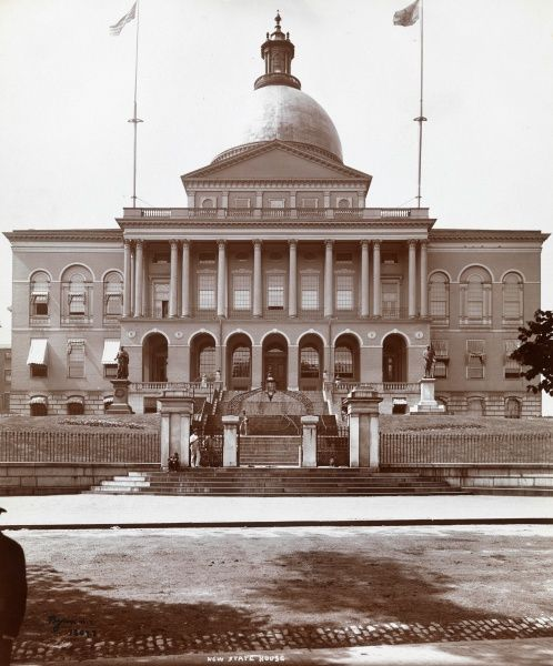 New State House. Elevation view of the Boston State House