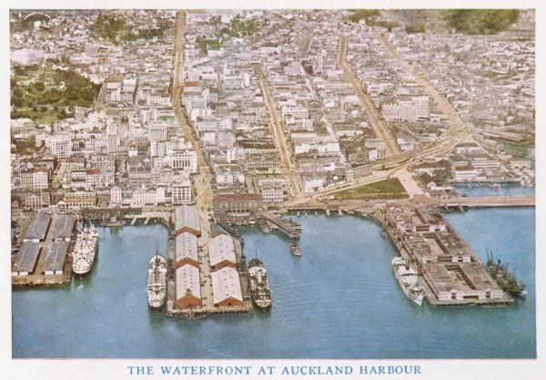 Auckland: aerial view of the harbour