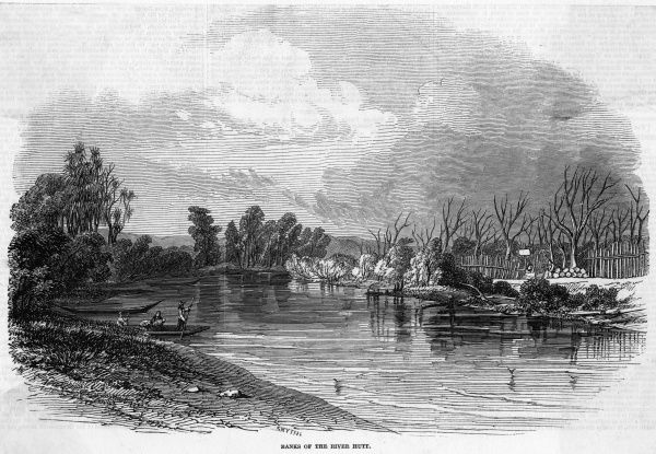 Scene on the banks of the Hutt River