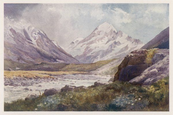 Mount Cook, covered in snow