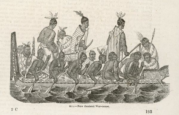 A war canoe of New Zealand