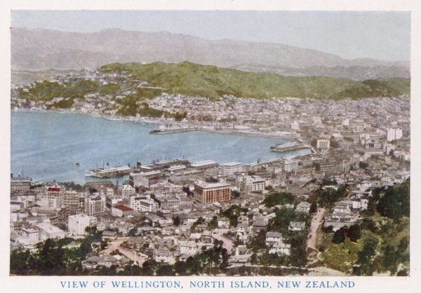 Wellington, North Island: general view of the bay