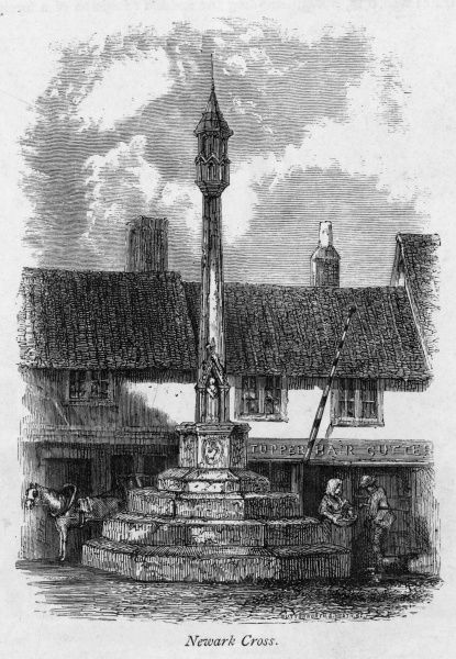 The Stone Cross at Newark, Nottinghamshire