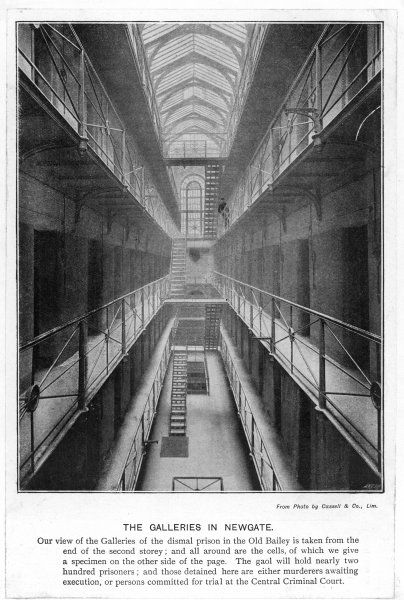Originally the principal west gate of London, Newgate was the target of Elizabeth Fry's efforts to improve prison conditions. The deserted Galleries
