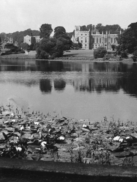 Newstead Abbey, Notts. founded as a monastic house in the 12th century, the seat of the Byron family from 1540, but sold by Lord Byron in 1818. Date: 1950s