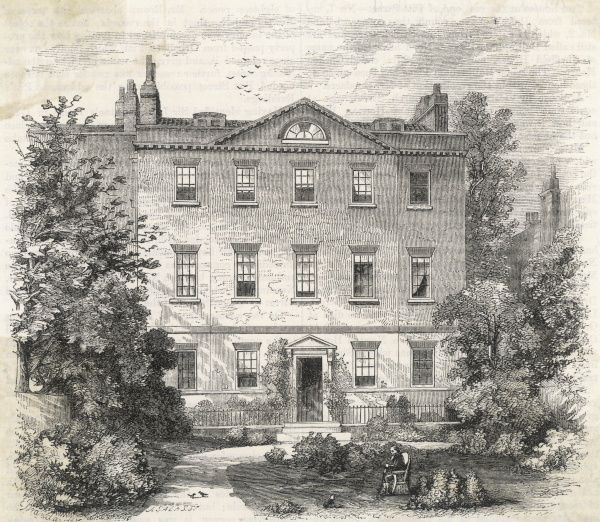 SIR ISAAC NEWTON Orbell's Buildings, Kensington (later Bullingham House), where the English scientist and mathematician lived in 1727